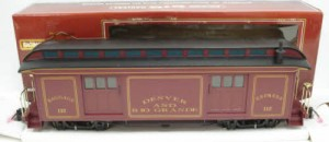 89093 D&RG red Baggage